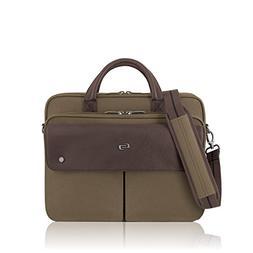 Solo Rucker 15.6 Inch Laptop Briefcase, Khaki