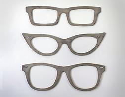 Eyeglasses Wall Decor Cats Eye Glasses, Wayfarer, Square Gla