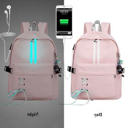 Fashion Anti Theft Reflective Women Backpack School Bags Lap