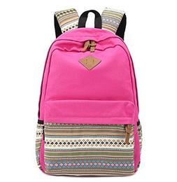 Unisex Fashionable Canvas Zip Bohemia Boho Style Backpack Sc