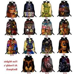 Five Nights at Freddy's Backpack Boy's Book Laptop Bag Schoo