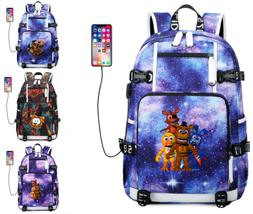 Five Nights at Freddy's Backpack teenager Schoolbag USB Ch