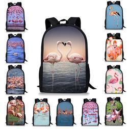 Flamingo Women Girls Backpack School Bags Travel Laptop Shou