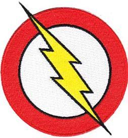 DC Comics The Flash Classic Lightning Bolt Logo  Ironed or S