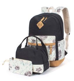 Leaper Floral Laptop Backpack School Bag Daypack Bookbag Lun