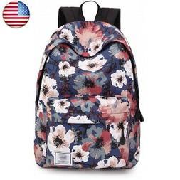 Leaper Floral Laptop Backpack Shoulder Bag   )