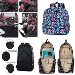 Leaper Floral Laptop Backpack Women Daypack Travel Bag Satch