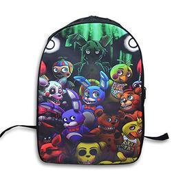 FNAF Five Nights at Freddy's Printing Backpack School Bags T
