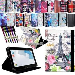 "Folio Stand Leather Cover Case For Various HP 7"" 8"" 10"" Mode"