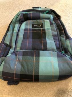 Dakine Frankie 26L Backpack Bookbag Blue Plaid Aquamarine