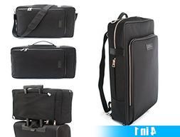 Gentleman's Backpack  Waterproof Black Nylon Bag for Busines