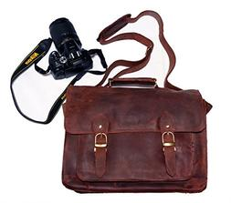 FeatherTouch Genuine Leather Camera Bag Messenger Bag Camera
