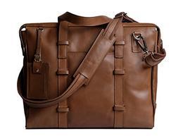 Genuine Leather Laptop Messenger Bag/ Handbag for Men & Wome