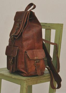 genuine men's Real leather backpack bag satchel briefcase la