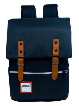 Girl Women Men Canvas Leather Travel Backpack Satchel Rucksa