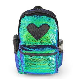 Glitter Magic Reversible Sequin School Backpack,Sparkly Ligh