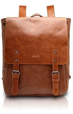 Zebella Pu Crazy Horse Leather-Like Vintage Women's Backpack