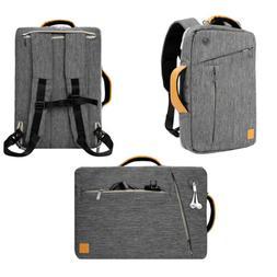 "Gray VanGoddy Laptop Backpack Messenger Bag For 12.3"" Micros"