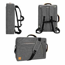 """Gray VanGoddy Laptop Messenger Bag Backpack for 13.3"""" HP Eli"""
