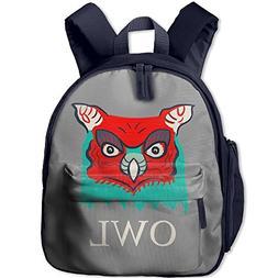 Great Horned Owl Head Designed ArtChildrens' Cutebag Toddler