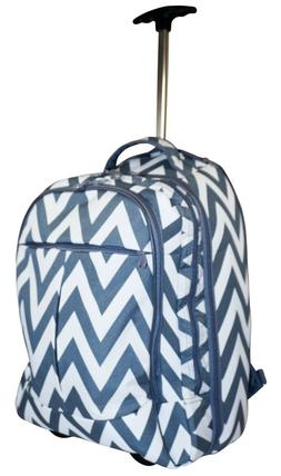 Ever Moda Chevron Wheeled Laptop Backpack