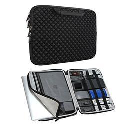 iCozzier 13-13.3 Inch Handle Diamond Foam Laptop Sleeve, Sho