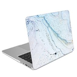 GMYLE Blue Stone Marble MacBook Air 13 inch case Soft-Touch