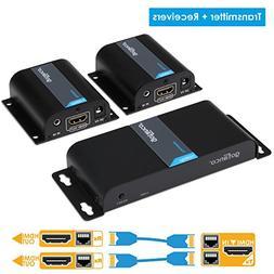gofanco 130ft 1080p 1x2 2 Port HDMI Extender Splitter Over C