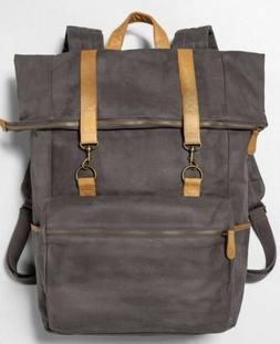 Hearth & Hand™ Magnolia Gray Backpack Laptop Bag Canvas $4