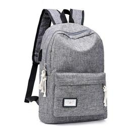 DXYIZU Heather Grey Canvas Unisex Laptop Backpack Bag with U