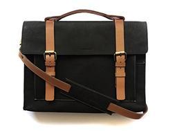 Chalk Factory Heavy Leather Messenger Bag Custom Made for iB