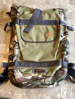 Timbuk2 Hemlock Laptop Roll Top Backpack Camo & Olive Green