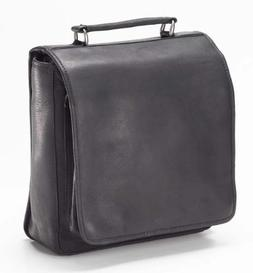 """Clava Hip-to-be Square 10"""" Leather Backpack in Black"""