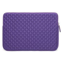 Evecase Xtra Large Diamond Purple Neoprene Zipper Sleeve Cas