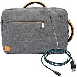 VanGoddy Hybrid 3 in 1Design Messenger Briefcase Backpack Sh