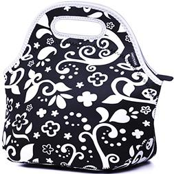 MATTINO Insulated Lunch Bag - Neoprene Lunch Bag - Large Reu