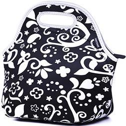 MATTINO Insulated Lunch Bag - Neoprene Lunch Bag - Large Reu