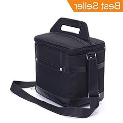 Lionkin8 Insulated Lunch Bag Tote Black Food Handbag lunch b