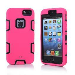 iPhone 5S Case, iPhone SE Case, iPhone 5 Case, KAMII 3in1 Sh