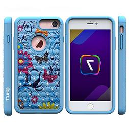 iPhone 7 Case,  by HLCT, Soft Interior Silicone Bumper & Har