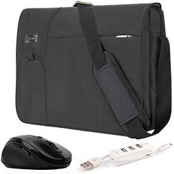 VanGoddy Jet Black Executive Anti-Theft Laptop Messenger Bag