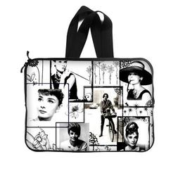 JIUDUIDODO Custom Actress Audrey Hepburn Neoprene Laptop Sle