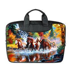 JIUDUIDODO Custom Fabulous Horses Nylon Waterproof Bag Compu