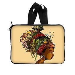 JIUDUIDODO Custom Gift Mother's Day African Woman Neoprene L