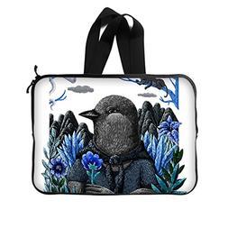 """JIUDUIDODO Custom Lovely Birdman Neoprene Laptop Sleeve 14"""""""