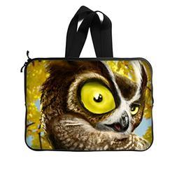 "JIUDUIDODO Custom Owl Neoprene Laptop Sleeve 13"" Laptop Brie"