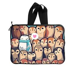 "JIUDUIDODO Custom Owl Neoprene Laptop Sleeve 13"" Laptop Brie"