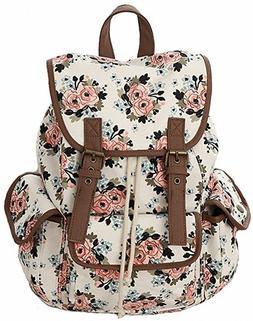 kenox floral backpack bookbags for school college