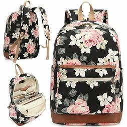 Kenox floral Canvas Rucksack Backpack  bookbag School Colleg
