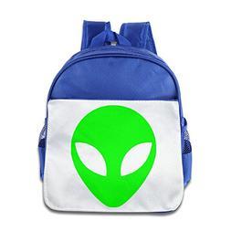 CUIPO JUCPOI Kid's Backpack - Novetly Green Alien Head UFO C